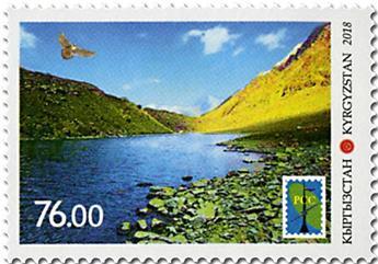 n° 765 - Timbre KIRGHIZISTAN (Poste Kirghize) Poste