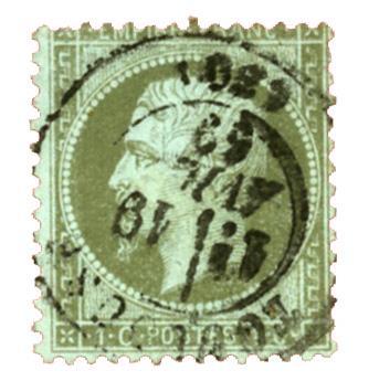 n°19 obl. TB - Timbre FRANCE Poste