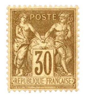 n°80** - Timbre France Poste