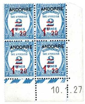 n°13** - Timbre Andorre Taxe