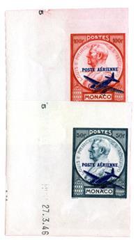 n°13/14** ND - Timbre MONACO Poste Aérienne
