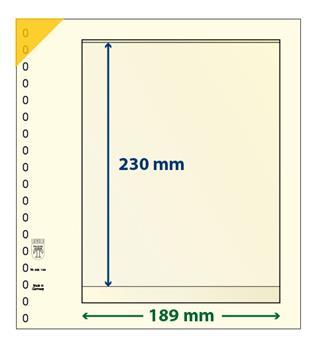 Feuille neutre LINDNER-T : 1 bande-802108 (x10)