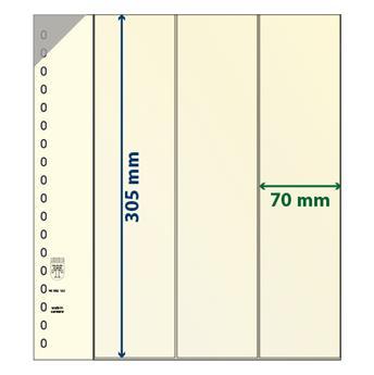 Feuille neutre LINDNER-T : bandes pour roulettes et carnets-802122P (x10)