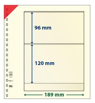 Feuille neutre LINDNER-T : 2 bandes-802211 (x10)