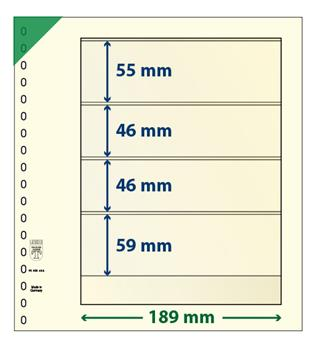 Feuille neutre LINDNER-T : 4 bandes-802404 (x10)-Hors cat.