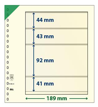 Feuille neutre LINDNER-T : 4 bandes-802415 (x10)