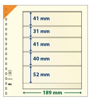 Feuille neutre LINDNER-T : 5 poches-802504 (x10)