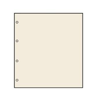 FEUILLES NEUTRES : Chamois avec perforation A4  (x10) SAFE® (Hors cat.)