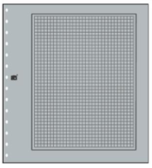 FEUILLES NEUTRES : Grises quadrillées (x10) SAFE® (Hors cat. / Ref 681)