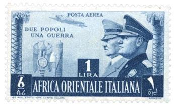 n°20* - Timbre AFRIQUE ORIENTALE ITALIENNE Poste Aérienne
