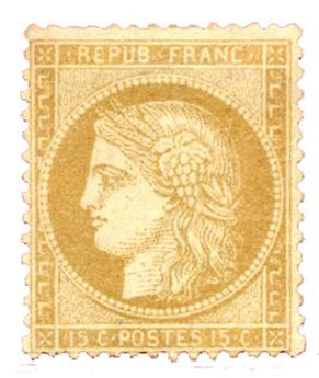 n°59(*) - Timbre FRANCE Poste