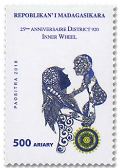 n° 1948 - Timbre MADAGASCAR Poste