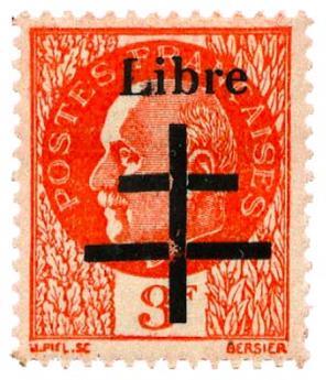 n°9* (MAYER) - Timbre FRANCE Libération (Aiguerande)