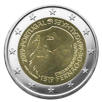2 EURO COMMEMORATIVE 2019 : PORTUGAL (500e anniversaire du départ de Fernand de Magellan de Séville)