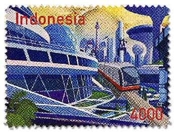 n° 2892/2894 - Timbre INDONESIE Poste