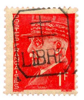 n°1* (MAYER) - Timbre FRANCE Libération (Measnes)