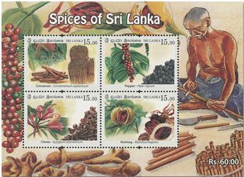 n° 174 - Timbre SRI LANKA Blocs et feuillets