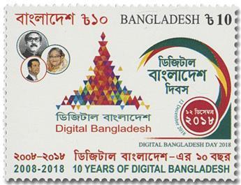 n° 1175 - Timbre BANGLADESH Poste