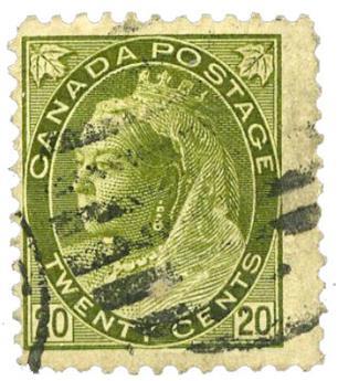 n°72 obl. B/TB - Timbre CANADA Poste