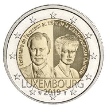 2 EURO COMMEMORATIVE 2019 : LUXEMBOURG (100 ans accession au trône de la Grande-Duchesse Charlotte)