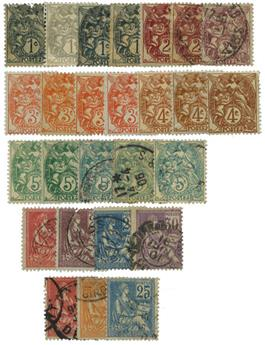 France : Collection 1900/1960 **/*/obl.