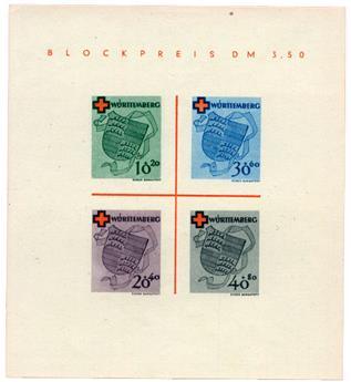 n°1* - Timbre ALLEMAGNE WURTEMBERG Blocs et Feuillets