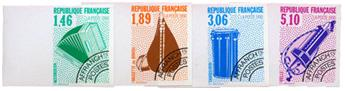 n°206/209** ND - Timbre FRANCE Préoblitérés