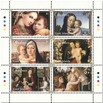 n° 1735/1740 et n° 1741/1746 - Timbre COOK (Oc) Poste