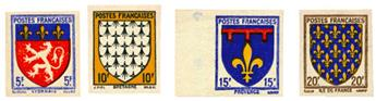 n°572/575** ND - Timbre FRANCE Poste