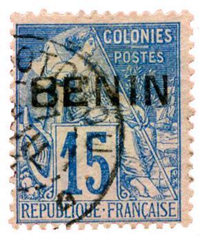 n°6 obl. - Timbre BENIN Poste