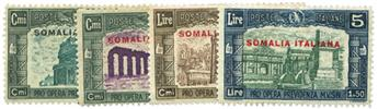 n°135/138* - Timbre SOMALIE ITALIENNE Poste