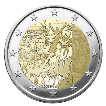 2 EURO COMMEMORATIVE 2019 : FRANCE (chute du mur de Berlin)