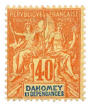 n°12* - Timbre DAHOMEY Poste