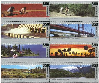 n° 2442A/2449A - Timbre ARGENTINE Poste