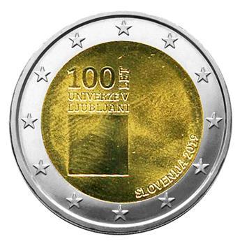 2 EURO COMMEMORATIVE 2019 : SLOVENIE (100 ans de l´universite de Ljubliana)
