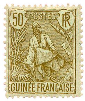 n°28* - Timbre GUINEE Poste