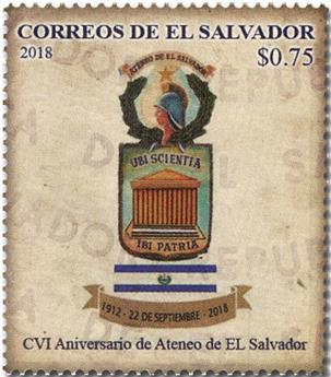 n° 1918 - Timbre SALVADOR Poste