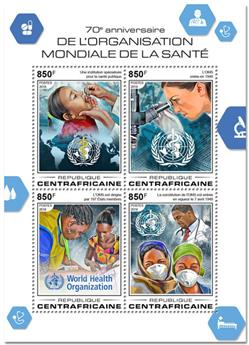 n° 5647/5650 - Timbre CENTRAFRICAINE Poste