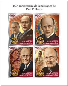 n° 5880/5883 - Timbre CENTRAFRICAINE Poste