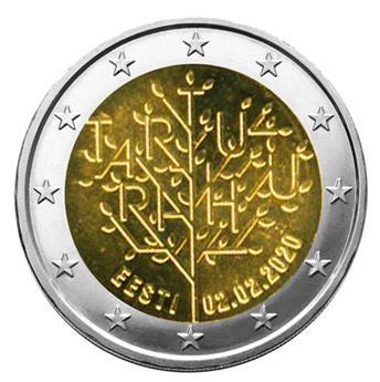 2 EURO COMMEMORATIVE 2020 : ESTONIE (100 ans du Traité de Tartu signé le 14 octobre 1920)