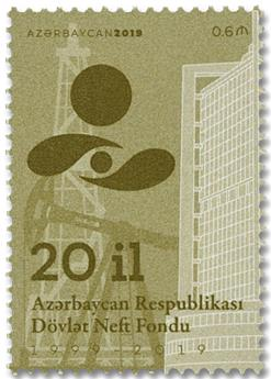 n° 1155 - Timbre AZERBAIDJAN Poste