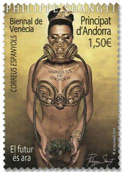 n° 475 - Timbre ANDORRE ESPAGNOL Poste