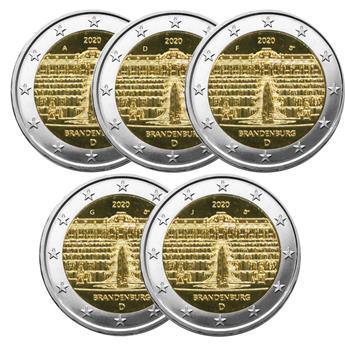 2 EURO COMMEMORATIVE 2020 : ALLEMAGNE - Presidence du BRANDEBOURG au Bundesrat (5 pièces)