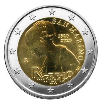 BU : 2 EURO COMMEMORATIVE 2020 : SAINT-MARIN (500 ANS DE LA MORT DE RAPHAEL)