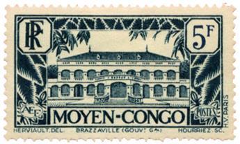 n°132* - Timbre CONGO Poste