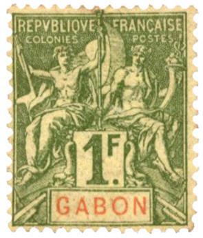 n°30* - Timbre GABON Poste