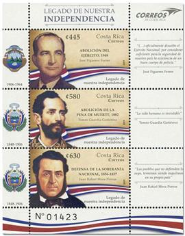 n° 1006/1008 - Timbre COSTA RICA Poste
