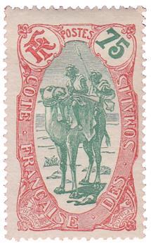 n°79* - Timbre COTE DES SOMALIS Poste
