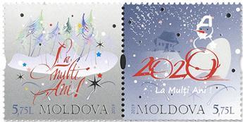 n°985/986 - Timbre MOLDAVIE Poste