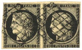 n°3 obl. B/TB - Timbre FRANCE Poste